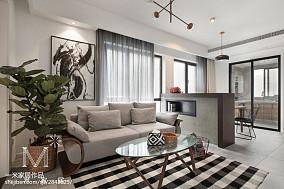 面积99平北欧三居客厅装修实景图片欣赏