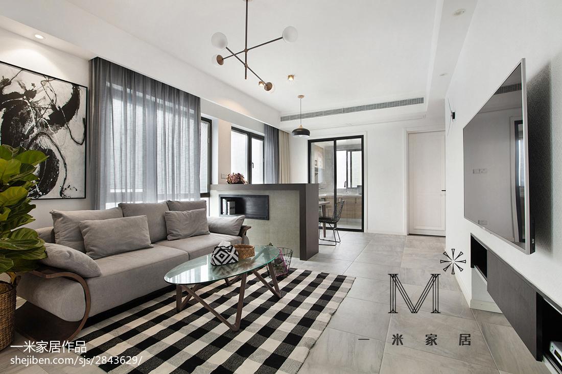 2018精选大小95平北欧三居客厅装修欣赏图片大全客厅
