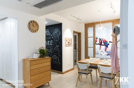 优美80平日式三居餐厅装修图厨房