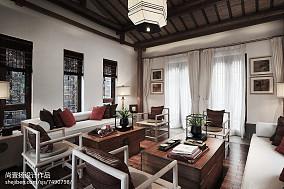 2018140平米中式别墅客厅装修图片欣赏