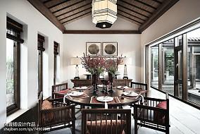 2018精选140平米中式别墅餐厅欣赏图别墅豪宅中式现代家装装修案例效果图