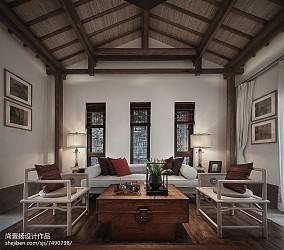 精选131平方中式别墅客厅装修图片欣赏别墅豪宅中式现代家装装修案例效果图