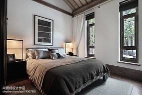 精选118平米中式别墅卧室装修欣赏图别墅豪宅中式现代家装装修案例效果图