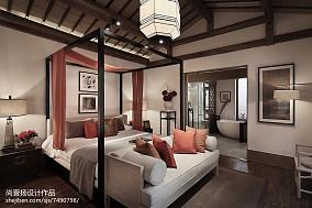 精选123平米中式别墅卧室装修图片欣赏别墅豪宅中式现代家装装修案例效果图