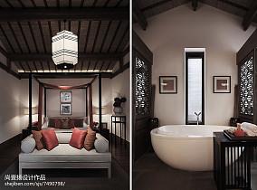 典雅366平中式别墅卧室效果图欣赏家装装修案例效果图