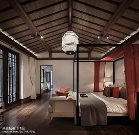 热门面积123平别墅卧室中式效果图片欣赏家装装修案例效果图