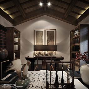 精美面积123平别墅书房中式装修图家装装修案例效果图
