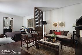 热门129平米中式别墅休闲区装修设计效果图片欣赏别墅豪宅中式现代家装装修案例效果图