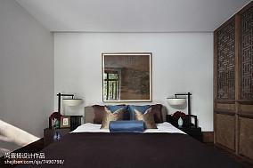 精美126平方中式别墅卧室装修实景图片欣赏别墅豪宅中式现代家装装修案例效果图