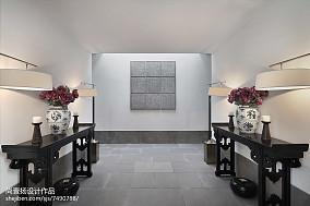 中式别墅过道装修设计效果图片欣赏别墅豪宅中式现代家装装修案例效果图