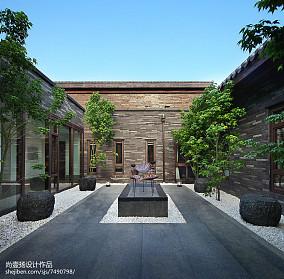 中式别墅花园效果图片大全