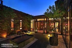 精美139平米中式别墅花园装修设计效果图片家装装修案例效果图