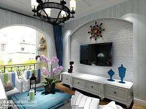 热门地中海客厅装修设计效果图片欣赏