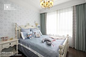 精选138平米四居卧室美式实景图片欣赏四居及以上美式经典家装装修案例效果图