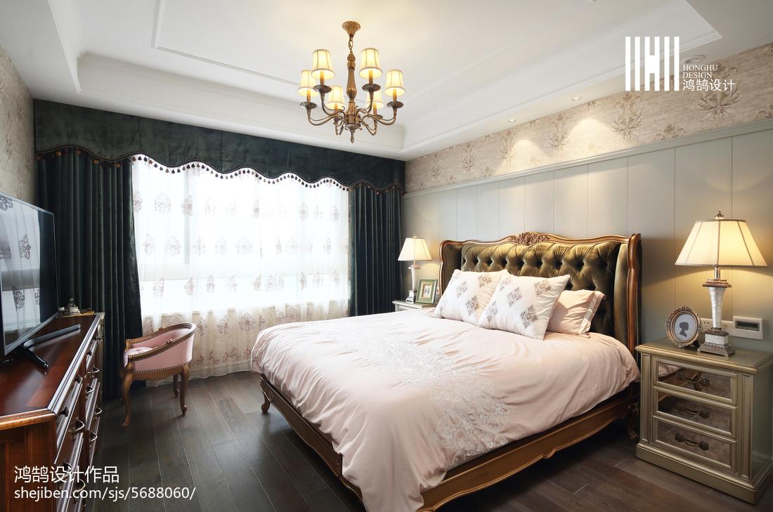 精选四居卧室美式装修图片大全卧室窗帘美式经典卧室设计图片赏析