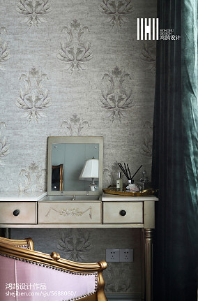精美104平美式四居卧室美图四居及以上美式经典家装装修案例效果图