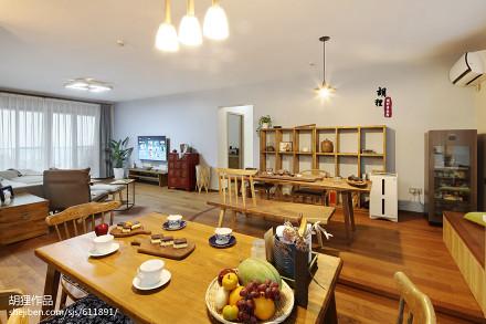 温馨92平北欧三居餐厅实景图厨房