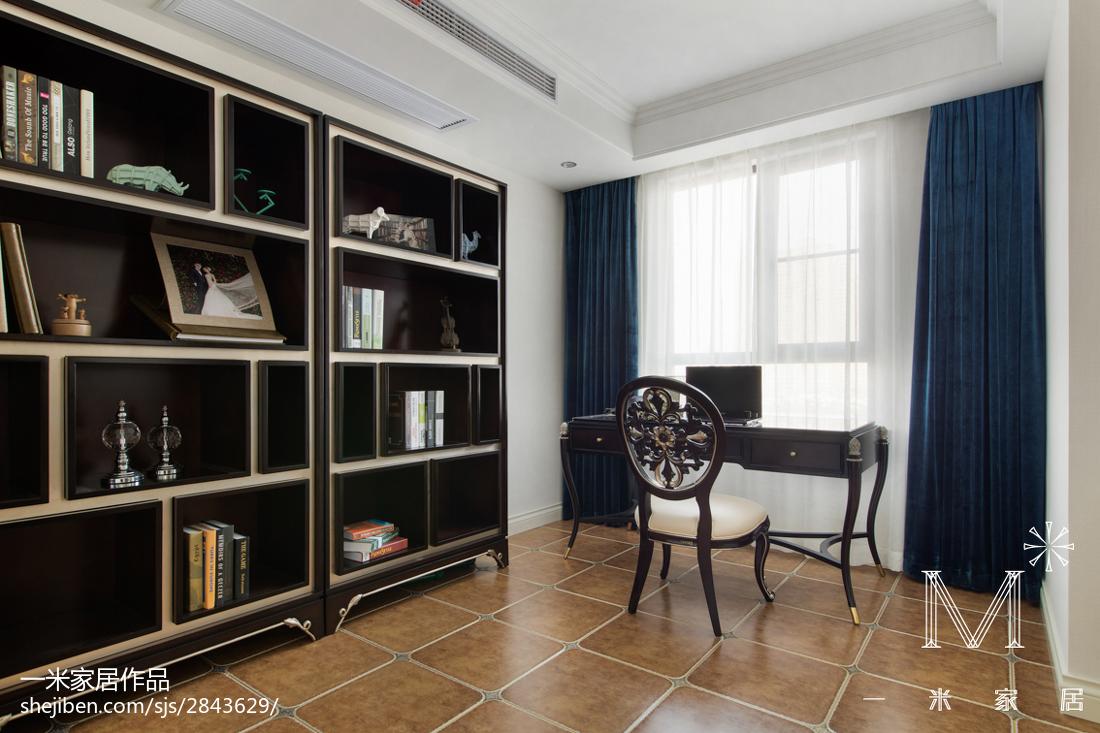 精美面积100平欧式三居书房实景图功能区欧式豪华功能区设计图片赏析
