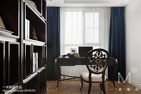 明亮103平欧式三居书房装修美图151-200m²三居欧式豪华家装装修案例效果图