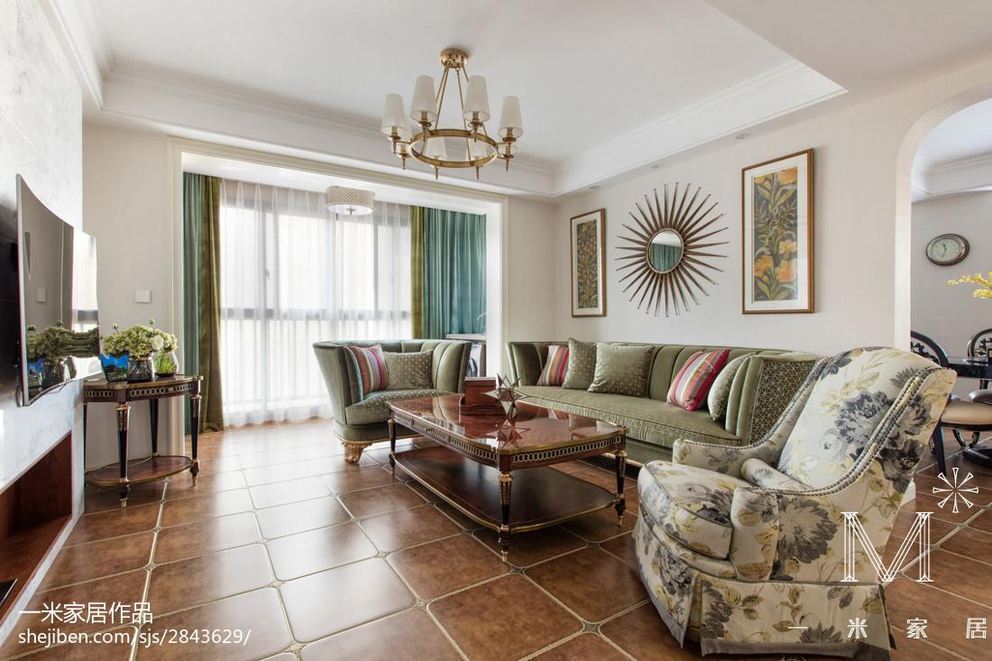精选97平米三居客厅欧式实景图片151-200m²三居欧式豪华家装装修案例效果图