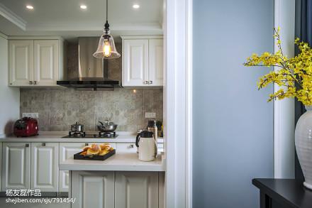 108平米三居厨房美式装饰图餐厅