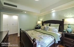 浅蓝色美式卧室设计效果图