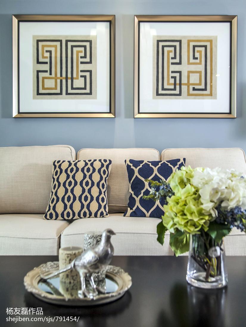 平米三居客厅美式装修设计效果图片客厅