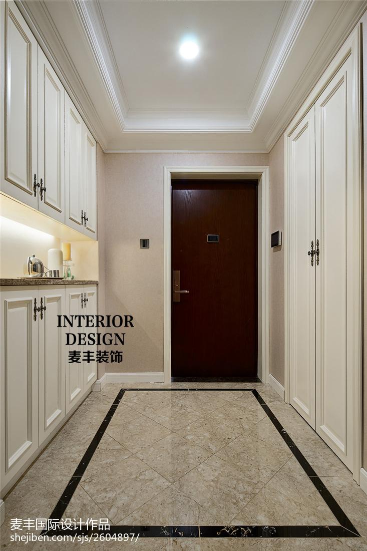简洁新古典风格玄关装修玄关玄关柜美式经典玄关设计图片赏析