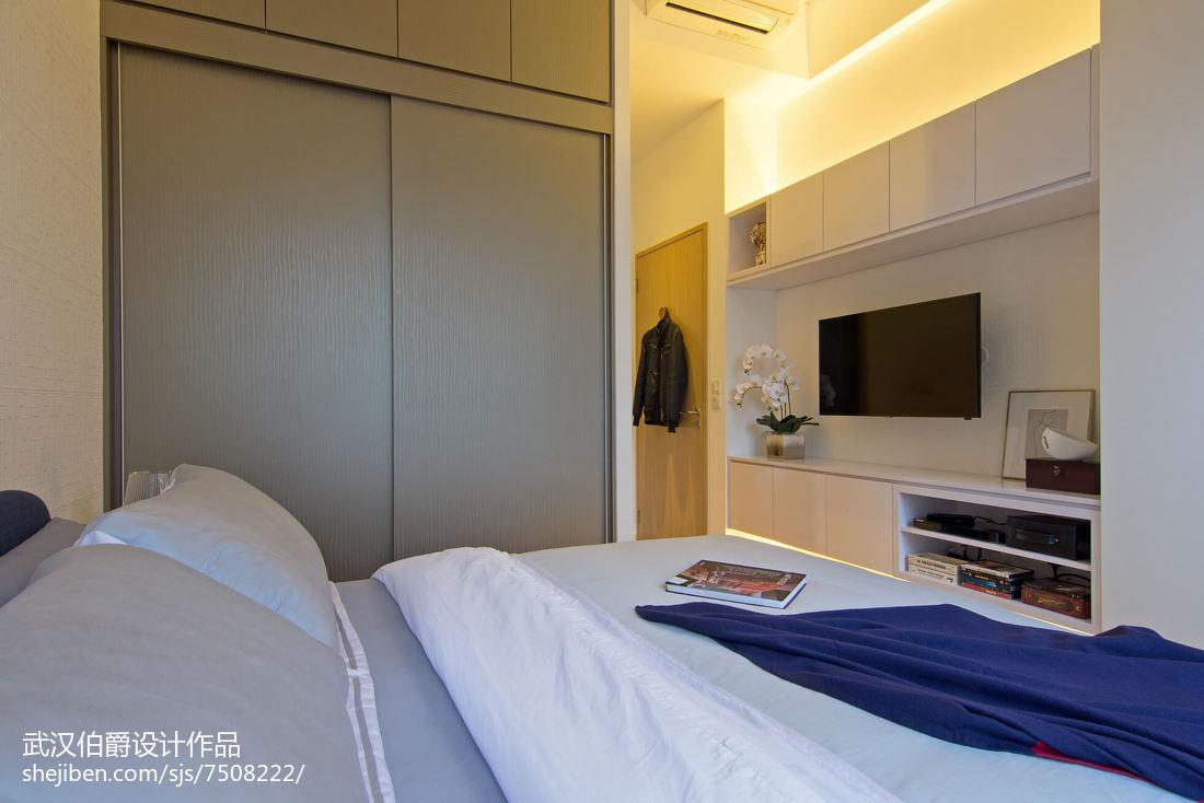 精美94平米三居卧室混搭装修效果图片大全卧室