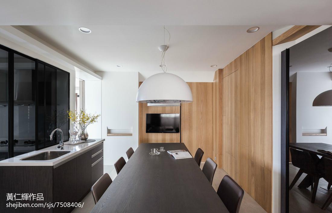 精选大小98平现代三居餐厅装修效果图片厨房