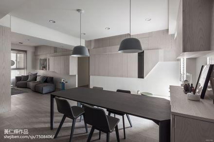 精美面积101平简约三居餐厅实景图厨房