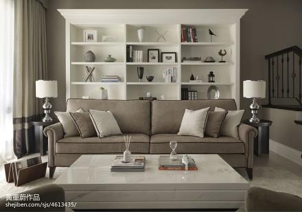 精美103平方三居客厅新古典装修设计效果图