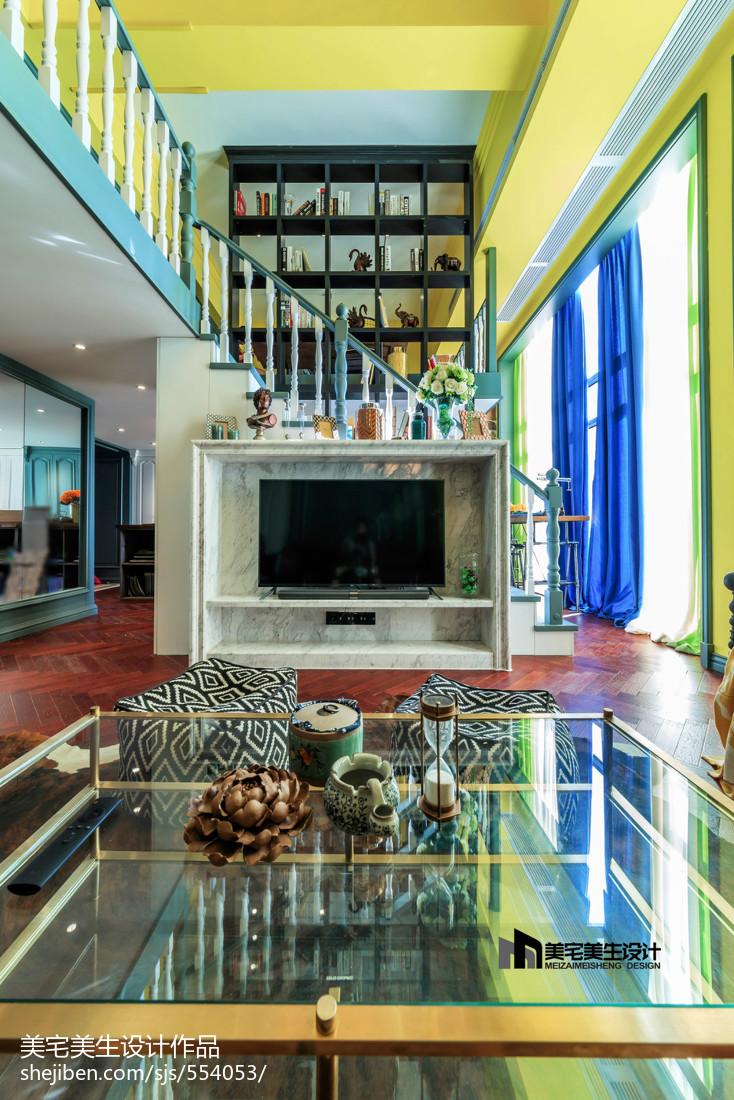 2018精选124平米混搭复式客厅装修图片客厅