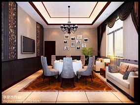 106平米三居中式装修效果图片欣赏