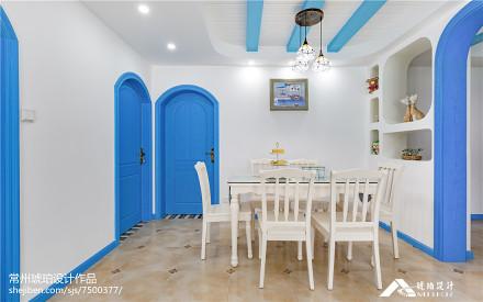 2018精选地中海三居餐厅装修设计效果图片大全厨房2图