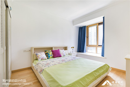 面积92平地中海三居卧室装修图片大全卧室