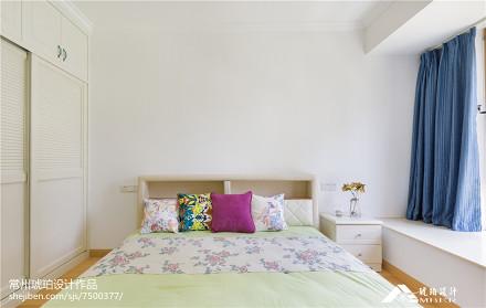 热门面积108平地中海三居卧室实景图片大全卧室1图
