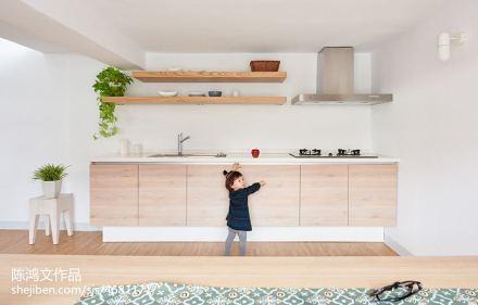 2018精选125平米日式复式厨房效果图片欣赏餐厅