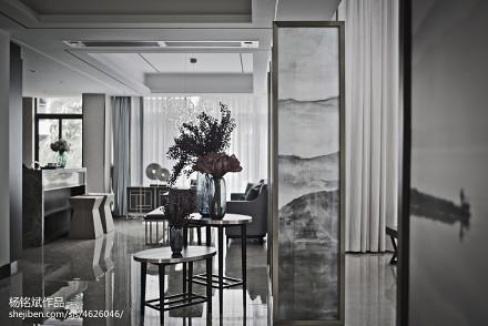 精美面积138平别墅客厅混搭装饰图别墅豪宅潮流混搭家装装修案例效果图