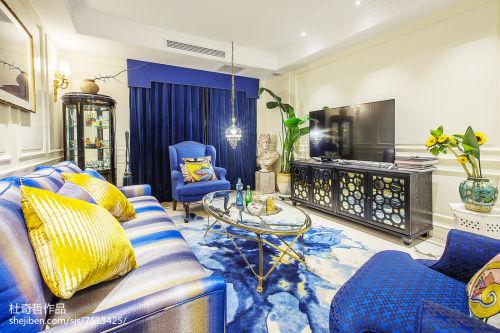 2018精选面积102平混搭三居客厅装修效果图客厅窗帘