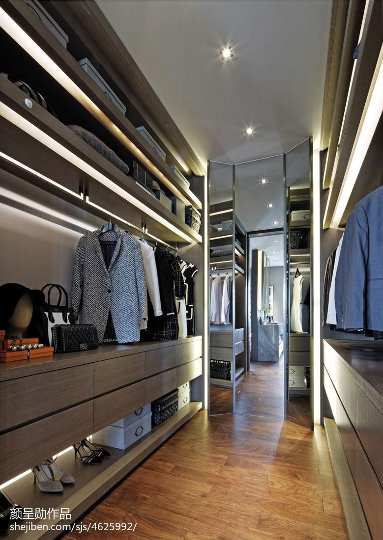 现代风格样板房衣帽间装修功能区衣柜现代简约功能区设计图片赏析