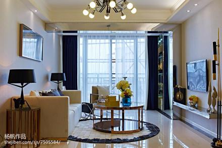 精选72平米简约小户型客厅装修实景图客厅