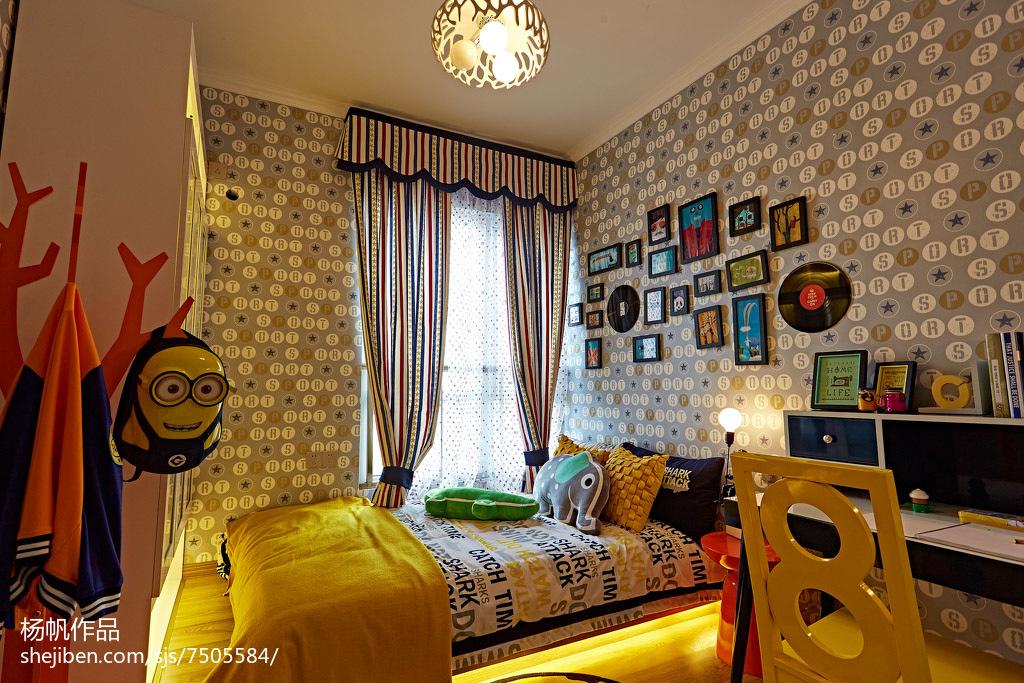 热门面积73平小户型儿童房简约欣赏图片大全卧室现代简约卧室设计图片赏析