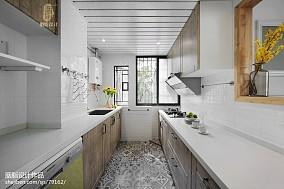 华丽130平北欧三居厨房装修案例餐厅北欧极简设计图片赏析