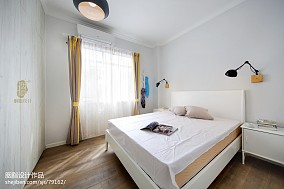 温馨107平北欧三居卧室图片欣赏卧室2图北欧极简设计图片赏析