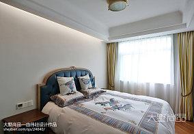 精美面积93平欧式三居卧室设计效果图家装装修案例效果图