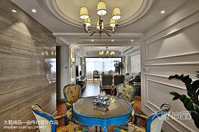 轻奢欧式风格餐厅装修案例三居欧式豪华家装装修案例效果图