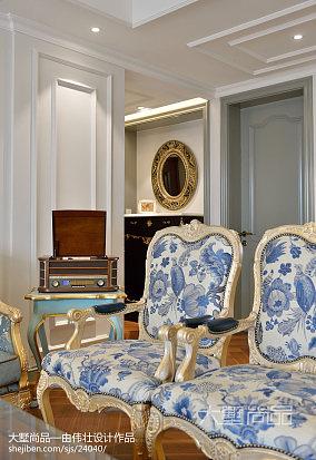 优美100平欧式三居客厅装修效果图三居欧式豪华家装装修案例效果图
