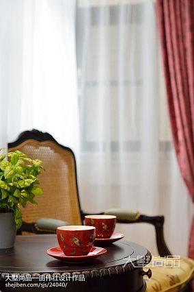 热门面积98平欧式三居客厅装饰图片三居欧式豪华家装装修案例效果图