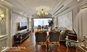 2018精选96平米三居客厅欧式装修图片大全三居欧式豪华家装装修案例效果图